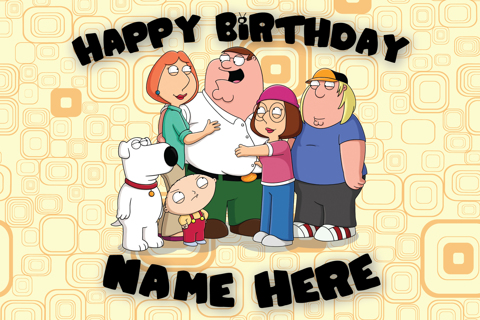 Free Custom Family Guy Birthday Card Birthday Listia – Family Birthday Cards