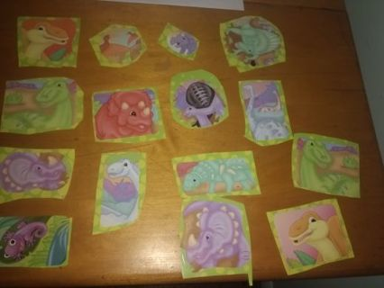 Lot of 18 Dinosaurs Stickers