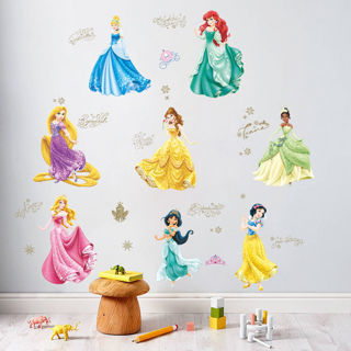 Cinderella Snow White Princess Wall Art Stickers Removable Girls Bedroom Decor