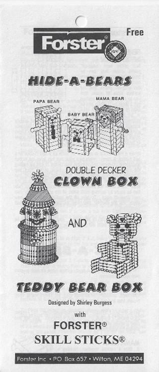 * Forster Woodcraft Pattern - Clown & Bear Box