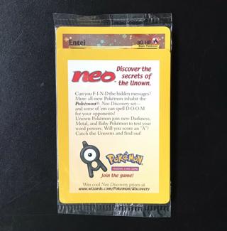 Pokemon ENTEI Black Star Promo Card #34 HOLO Foil Rare SEALED in Pack Neo WOTC
