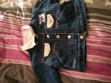 0/9 month girls denim fubu jacket