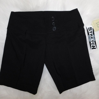 NEW With Tags: 725 Apparel High Waist 3 Button SHORTS Black Size 7 SO Stylish!
