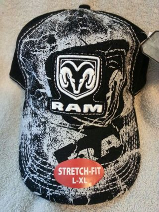 f58c2a2d925 FREE  Hat Hats  Mossy Oak Black White Dodge Ram Stretch Fitted Camo Hat!  L-XL  Brand New With Tags!