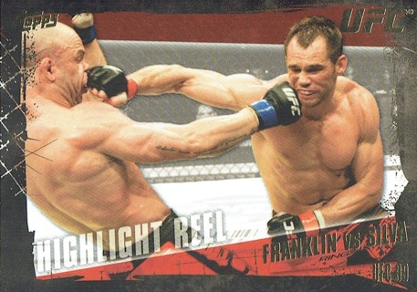 UFC 99 MMA 2010 Topps Collectible Trading Card (Thick Card) Franklin VS Silva #193