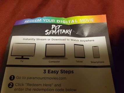 Pet Sematary (1989) digital code ONLY