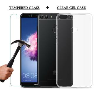 For Huawei P Smart  Tempered Glass Film Screen Protector+Clea