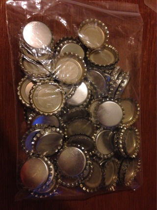Large Lot Silver Bottle Caps -Mixed
