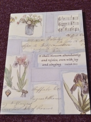 Inspirational Notecard - A Lady's Garden