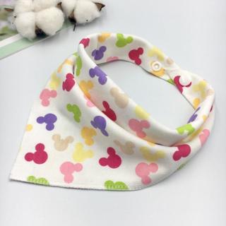 Bandana Bib Burp Cloth Baby Bibs for Boys Girls Animal Print Smock Cotton Baby Scarf Feeding Colla