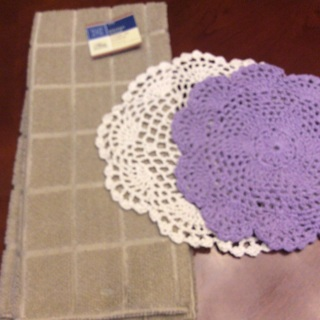 Hand Crochet Two Doilies and Free Gift. #10