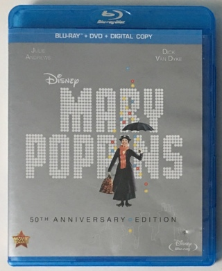 Disney Mary Poppins 50th Anniversary Edition Blu-ray + DVD Combo Movie - Mint Discs!