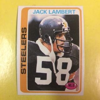 1978 Topps HOF #165 MLB Jack Lambert - Steelers