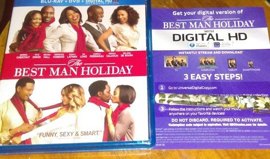 The BEST MAN HOLIDAY digital HD movie code