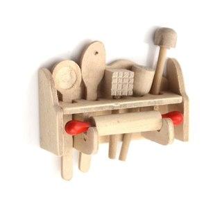 1:12Dollhouse Miniature Wooden Kitchen Ware