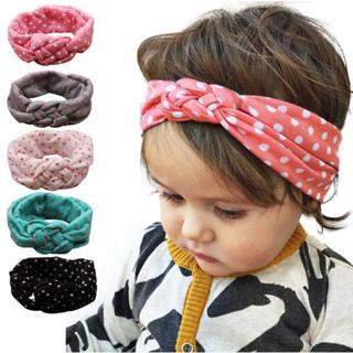 Fashion Dot Cross Children Weave Twist Headband Baby Hair Accessories Children's Clothing Headwear