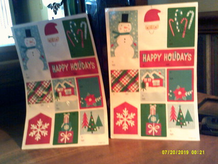 10 NEW GLITTERY,PEEL & STICK CHRISTMAS to/from Tags,gin gets u 20 tags