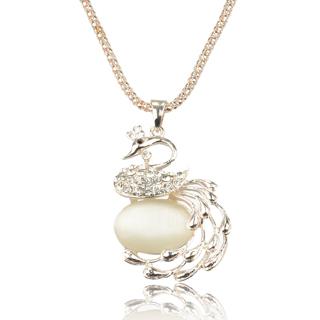 Swan Crystal 14K Gold Plated Necklace LINLITBB1841K