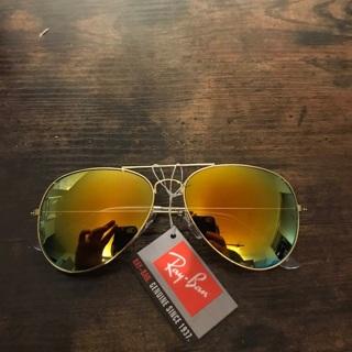 Rayban New Mirror Fire Gold Metallic Sunglasses