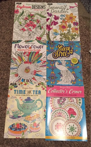 Adult coloring book lot of 6 NEW!!