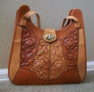 Free Vintage Mont Abur Mexican Tooled Leather Purse