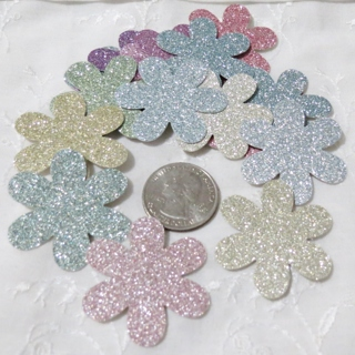 Glittery Pastels Large Cardstock Flower for Paper Crafts 20