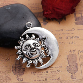 2  Sun And Moon Face Pendant