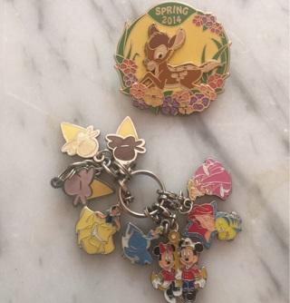 Disney LE Bambi Pin & Disney Princess Mickey Dangles WOW