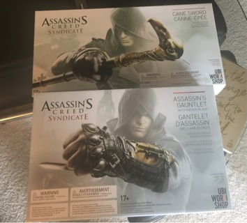 Assassins creed cane and gauntlet brand new in box free shipping