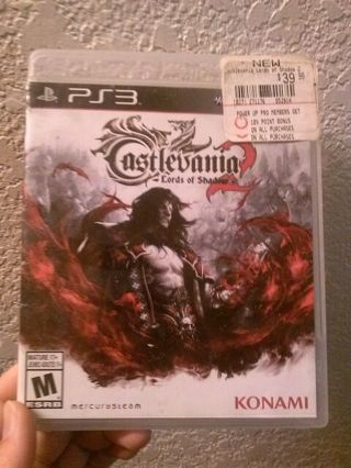 ♡ Adult owned PS3 game: CASTLEVANIA: LORDS OF SHADOW 300K ☆ FREE SHIP Damaged Jewel Case NO Manual