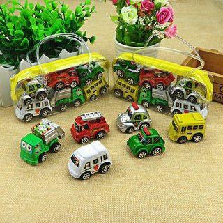 6Pcs Mini Pull Back Model Plastic Car Truck Vehicle Toys For Baby Kids Children
