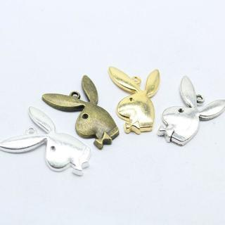 5/20pcs 33x21mm Antique Silver bronze Lovely Playboy rabbit head Charms Pendant