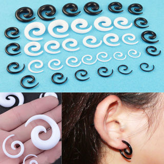 [GIN FOR FREE SHIPPING] 9Pairs Spiral Ear Stretching Kit Tapers Plug Stretcher Earring