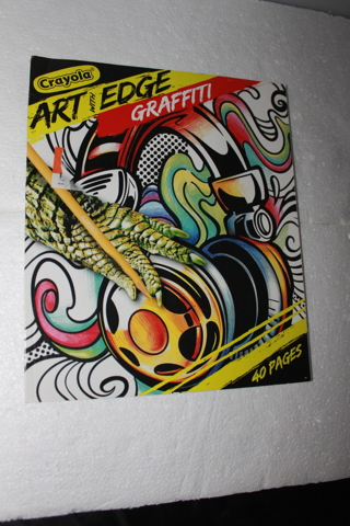 crayola art with edge graffiti coloring pages - free crayola art with edge graffiti 24 pack colored