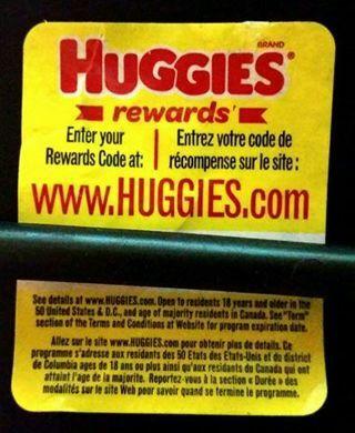 FIVE Huggies rewards codes