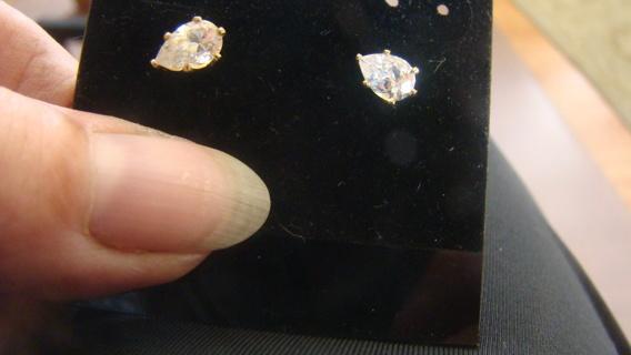 pierced marquise cut swarovski crystal Earrings