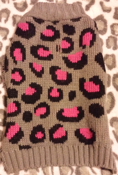 Free Grey Xs Leopard Print Dog Sweater Dog Listia Auctions