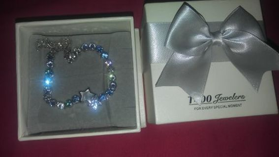Silver and Crystal Stars Bracelet Still wrapped in Box