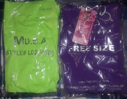 Leggings (2 pair) ONE (Free) size