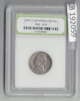 Early Jefferson Nickel 1938-1976 SPECIAL Buy any INB slab and get 1/2 OFF any additional  192059