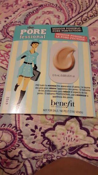 Benefit sample