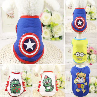 Fashion Summer Spring Cartoon Cotton Pet Dog Shirt Costume Puppy Clothes Apparel