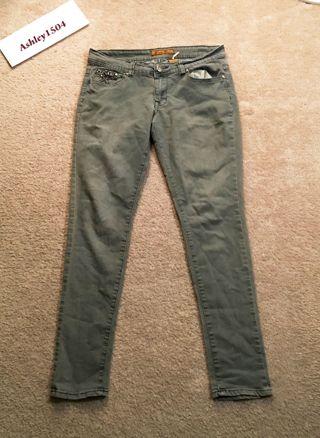 Women's Size 11 grey pants skinny jeans FREE SHIPPING