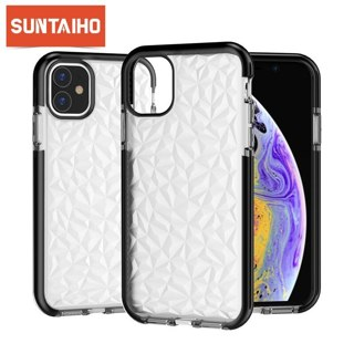 Suntaiho Clear Diamond Pattern Case For iPhone 11 Pro MAX Soft TPU Phone Cover For iPhone 11 iPhone