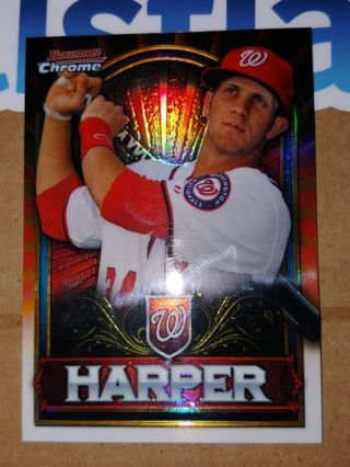 BRYCE HARPER⭐ROOKIE CARD⭐WASHINGTON NATIONALS⭐2011 BOWMAN CHROME⭐RED RETAIL ONLY⭐FREE $HIP