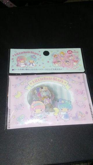 "Sanrio 2019 Little Twin Stars ""Wonderland"" Kawaii sticker flake sack"