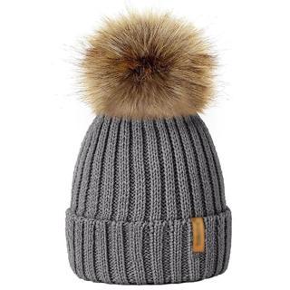 Winter Hats For Kid Knit Beanie Baby Hat 2017 Children Fur Pom Pom Hats For Girls Boys Warm Cap