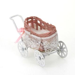 1:12 Dollhouse Miniature Furniture Stroller Pram for Barbie Doll Toy Gift Health