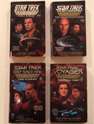 COMPLETE Star Trek: Invasion Crossover Paperback Book Series (all 4!) FREE SHIPPING