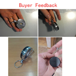 Mini Outdoor Safety Buckle Retractable Rope Key chain Anti-Lost Keychain lb SL